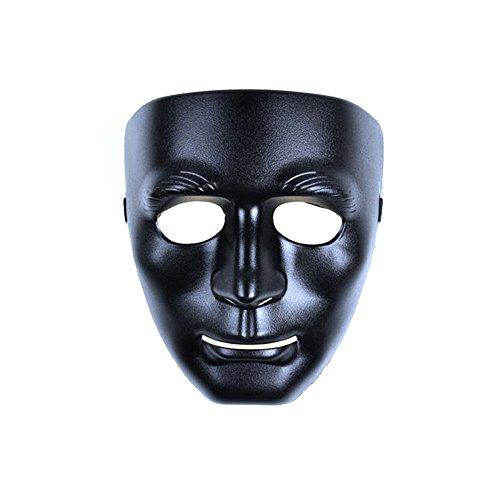 [PYD Hip-hop Street Dance Mask Halloween Masquerade Festival Costume Party Props Black] (Festival Street Dance Costume)