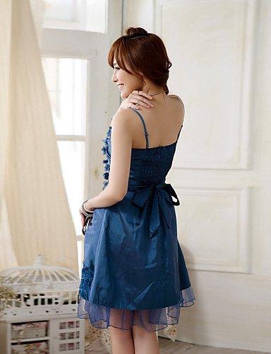 PU&PU Robe Aux femmes Grandes Tailles Grandes Tailles / Soirée Mi-long Autres / Satin , purple-2xl , purple-2xl