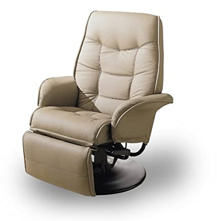 MAN CAVE Tan Leatherette Modern Recliner