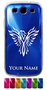 Samsung Galaxy S3 Siii Case/Cover - PHOENIX BIRD - Personalized for FREE (Click the CONTACT SELLER button after purchase and send a message with your case color and engraving request)