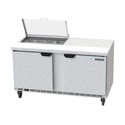 - Beverage Air SPE60HC-08-CL Elite Series Clear Lid Sandwich Top Refrigerated Counter, 60