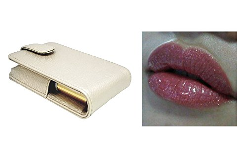 Lipsense BOUGAINVILLEA Pink Tint with Gold Shimmer with Pearl Pouch and Carrying Case with mirror to hold 3-4 tubes of lipsense and shadowsense and application guide