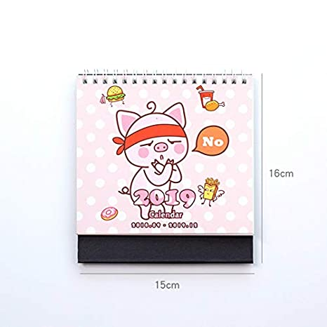 Calendrier Dessin Anime.2019 Calendrier Dessin Anime Animal Calendrier Office Home