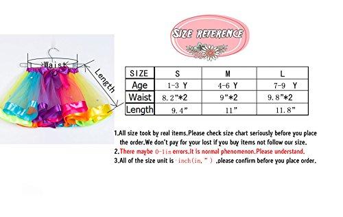MOLFROA Baby Girls Colorful Layered Dance Outdoor Rainbow Tutu Skirt (Small/1-3 Years, Rhinestone Rainbow) by MOLFROA (Image #4)