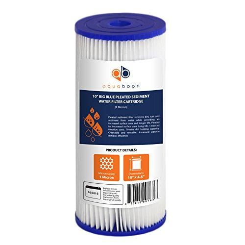 Aquaboon 1-Pack of 1 Micron Big Blue 10