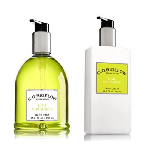 C.O. BIGELOW - Bath & Body Works GIFT SET- New scent collection of unisex fragrance,LIME CORIANDER ,11.6 FL oz. body lotion,13.3 oz,hand (Bigelow Coriander)