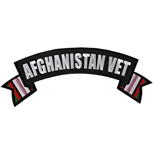 """Hot Leathers Afghanistan Vet Patch (4"""" Width x 1"""" Height)"""