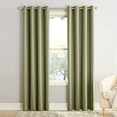 Sun Zero Barrow Energy Efficient Curtains bring style and energy efficiency to any home. The woven solid design with an easy to hang grommet-top offers a classic style that fits in with any room decor while reducing light and noise for better...