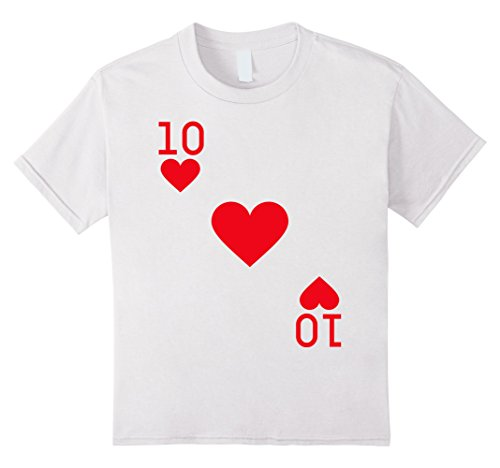 Kids Ten of Hearts Costume T-Shirt Halloween Deck of Cards 12 (Las Vegas Themed Halloween Costumes)