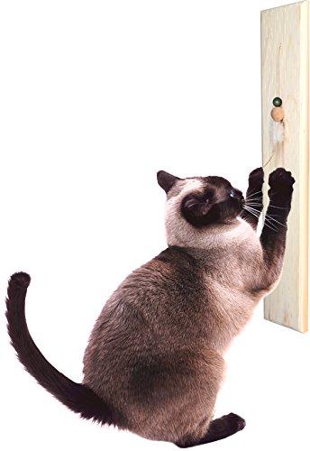 Cedar Cat Scratching Post - ActiveCat Cedar Wall-Mount Wood Scratching Post