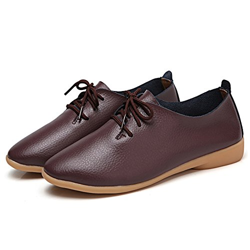 Mocassini In Pelle Causale Lingtom Scarpe Da Donna Piatte Slip-on Per Guidare Il Caffè