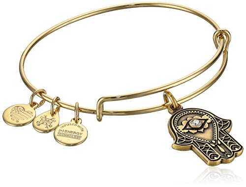 Alex and Ani Hand of Fatima III Bangle Bracelet, Rafealian Gold, Expandable