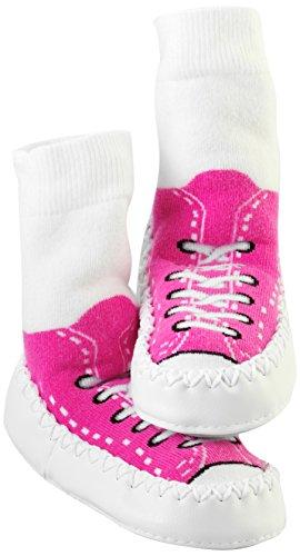 Mocc Ons Clever Little Slipper Socks Sneaker, 2-3 Years, Fuschia