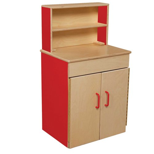 Healthy Kids Colors WD20700R Strawberry Red Classic Deluxe Hutch by Wood Designs