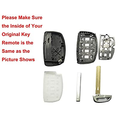 Replacement Key Fob Case for Hyundai Sonata Tucson Elantra Keyless Entry Key Fob Shell: Automotive