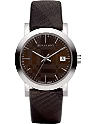 Burberry BU1775 Women's Swiss Smoked Check Brown Fabric Strap Watch