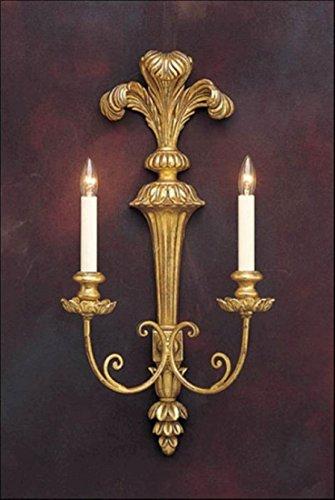 Decorative Crafts 1850 Carved Wood Sconce ()