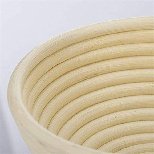 Banneton Proofing Basket - Natural Rattan Fermentation Wicker Basket bowl Country Baguette French Bread Mass Proofing Baskets Dough Banneton Baskets - by SHA - 1 PCs by SHA (Image #3)