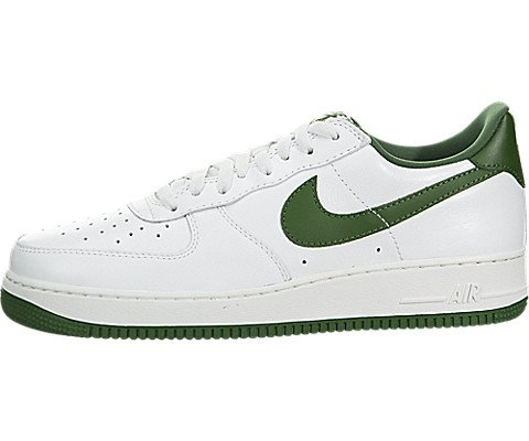 Galleon - Nike Men s 845053-101 Air For 1 Low Leather Sneakers White Forest  Green US 11.5 0fc728886