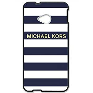 Blue and White Stripe Design Michael Kors Theme Phone Case 3D Hard Plastic Case Cover Snap on Htc One M7