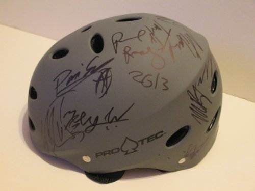 X-Games Autographed Signed SilverPro Tec Skateboard Helmet Proof (Lasek Skateboard Helmet)