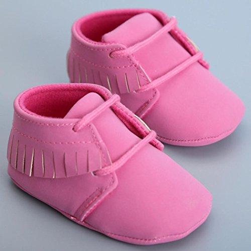 Monate Lauflernschuhe Mädchen 0 Babyschuhe Quasten Turnschuhe Longra Kleinkind Schuhe 12 weiche Baby Sohle ~ Freizeitschuhe qwv6wBC
