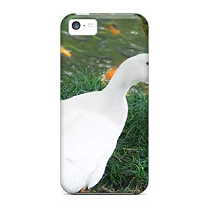 First-class Cases Covers For Iphone 5c Dual Protection Covers White Duck