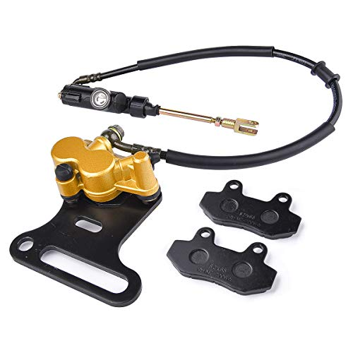 Chinese Dirt Pit Bike Rear Brake Master Cylinder & Caliper Baja SSR 70cc - 200cc Fit 12mm Wheel Shaft (Best Chinese Pit Bike)