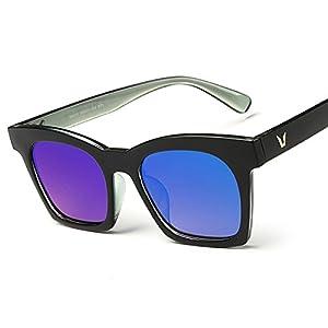Sunglasses Unisex UV Protection Sunglasses 96010V Word Couple New Bright Sunglasses,6