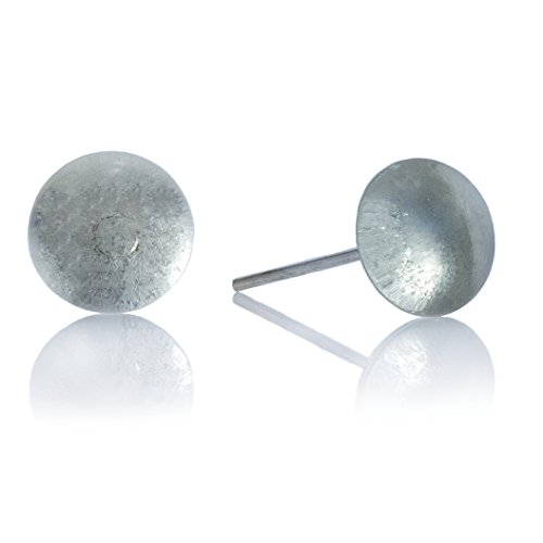 Recycled Glass Ball Stud Earrings by Moneta Jewelry (Clear Glass)