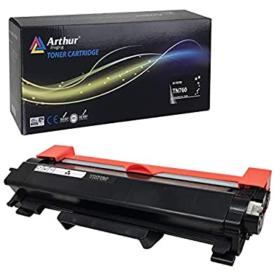 Arthur Imaging Elite with chip Compatible Toner Cartridge Replacement for Brother TN760 (Black 1-Pack)