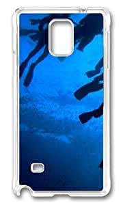 MOKSHOP Adorable Divers Paradise Hard Case Protective Shell Cell Phone Cover For Samsung Galaxy Note 4 - PC Transparent