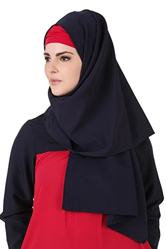 MyBatua Pink & Blue Kashibo Short Jilbab islamique Abaya Burqa Maxi AY-495