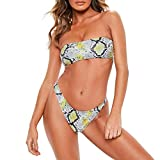 Bikinis Sets Tankini Women Snake Skin Printing Bra Bikini Split Body Swimsuit Beachwear Gray