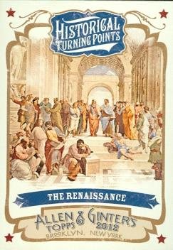 The Renaissance trading card (Historical Turning Points) 2012 Topps Allen & Ginters #HTP12