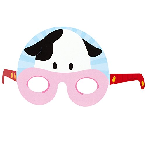 BirthdayExpress Barnyard Cow Party Favors - Photo Prop Masks (8) by BirthdayExpress