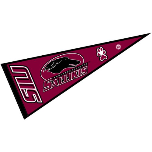 - College Flags and Banners Co. Southern Illinois University Pennant Full Size Felt