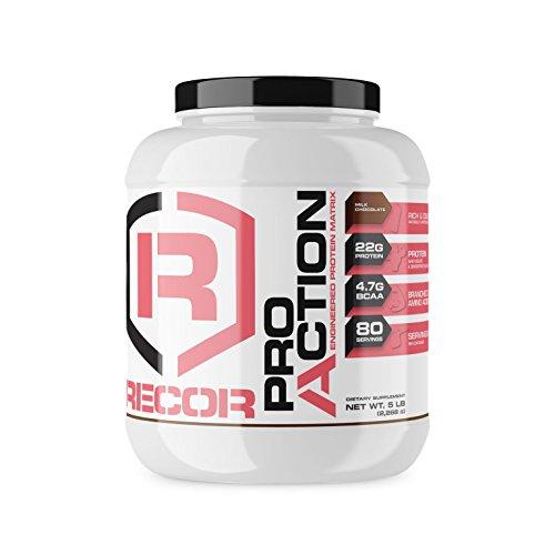 Reaction Nutrition Recor Pro Action Whey Protein, Milk Chocolate, 5 Pound