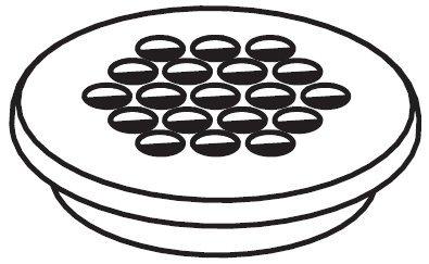 Moen 125752 Part Grid Drain Cover, (Moen Grid Drain Cover)
