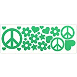 LiteMark Reflective Green Hippy Sticker Decals for Helmets, Bicycles, Strollers, Wheelchairs and More For Sale