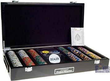 POKER MASTER estuche de madera: 300 fichas: Amazon.es: Juguetes y juegos