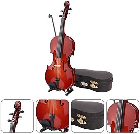 FOMIYES 1 Juego de Instrumentos Musicales Modelo violín artesanía decoración de Escritorio Accesorios de fotografía decoración de Madera de Bricolaje