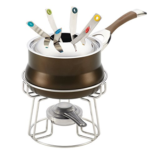 Circulon Symmetry Chocolate Hard Anodized Nonstick 3-1/4-Quart Fondue Set by Circulon