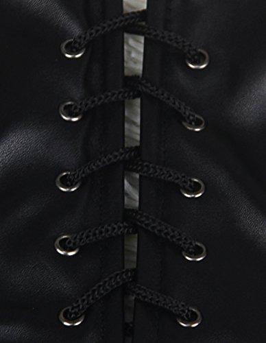 Women's Steampunk Overbust Black Gothic Corset Kimikal Top 1 zqRaaBZd