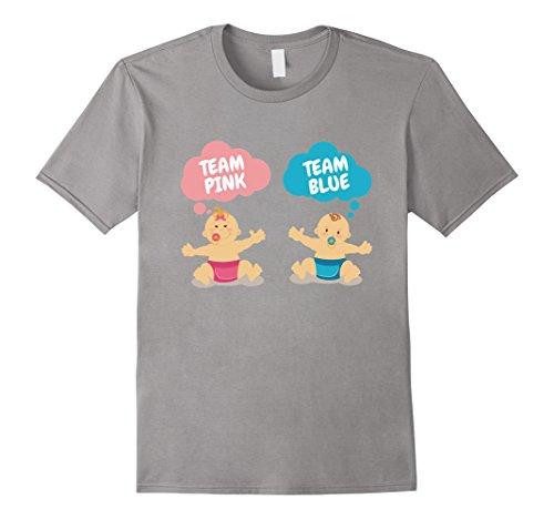 Men's Team Pink Team Blue? Gender Reveal Sex Announcement T-Shirt XL Slate