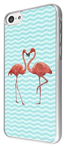 347 - Cool Fun Love Flamingo Design iphone 5C Coque Fashion Trend Case Coque Protection Cover plastique et métal