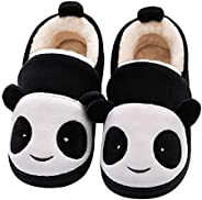 Efeng Boys Girls House Slippers Cozy Winter Fluffy Kids Warm Fur Lined Cute Animal Home Slipper Shoes for Todd