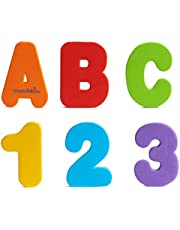 Munchkin Learn Bath Toy, 36 Bath Foam Letters and Numbers (Letters A-Z; Numbers 0-9)