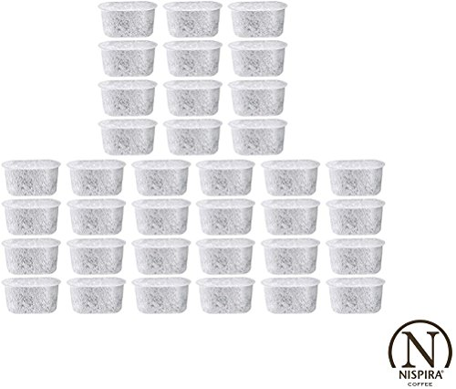 36 Nispira Activated Charcoal Water Filters Replacement, Compared To Cuisinart Coffee Machine Part DCC-RWF