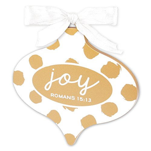 Lighthouse Christian Products Gold & White Joy Christmas Ornament by Lighthouse Christian Products